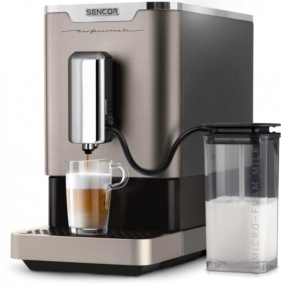 Sencor vyrábí levné automatické kávovary.