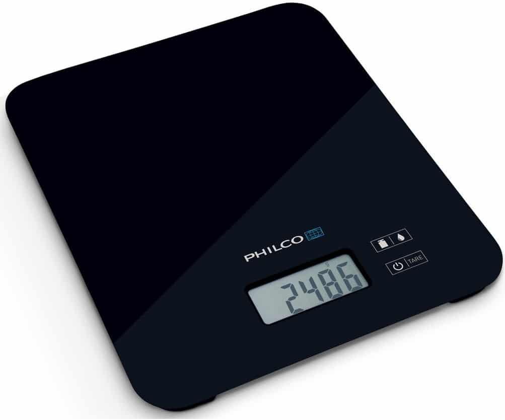Elektrická kuchyňská váha v kompaktní velikosti..