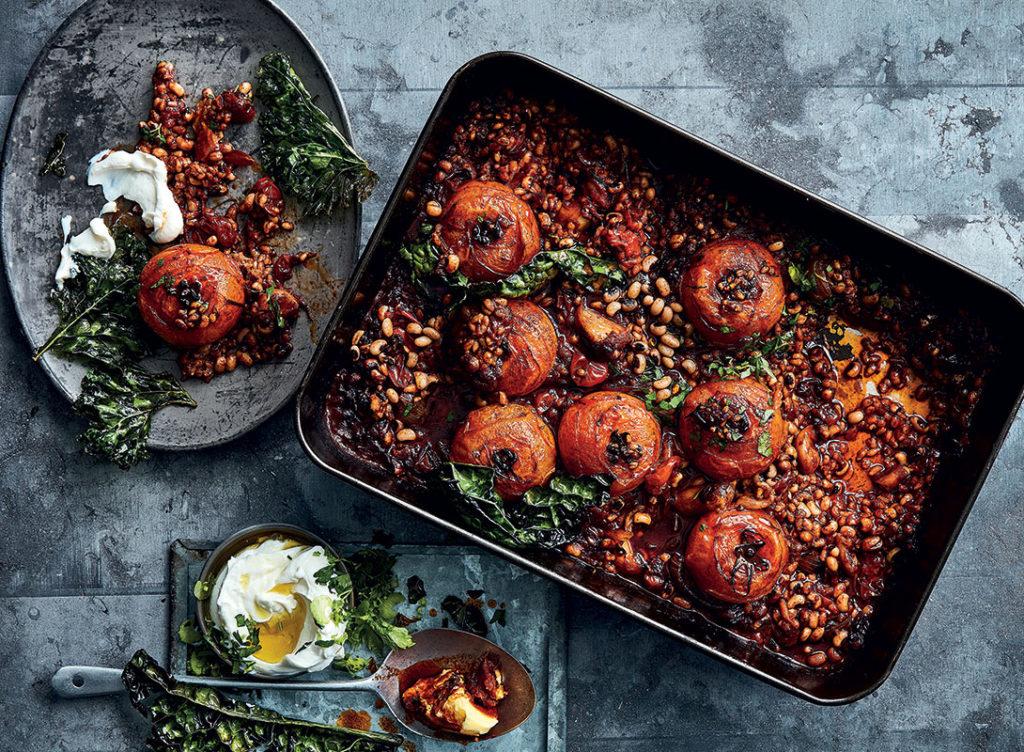 zapečená tarhoňa s rajčaty