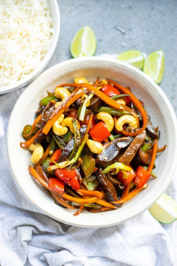 Vegetaránské Kung Pao se zeleninou