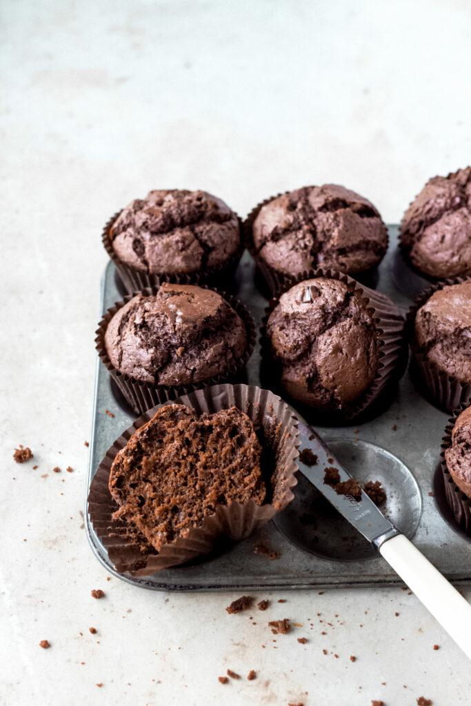 Plech s čokoládovo-řepnými muffiny