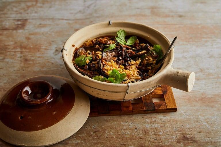 bezmasá rýže s lilkem