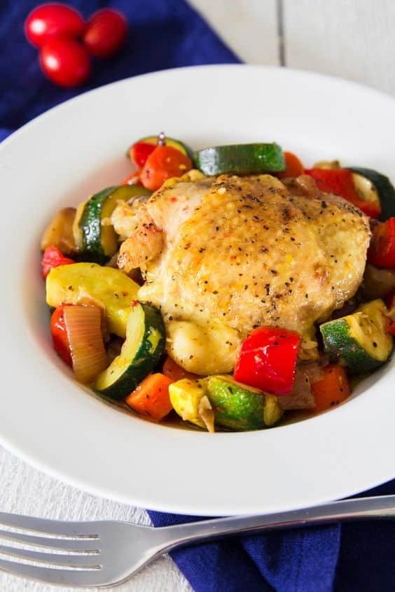 Kuřecí stehýnko se zeleninou uvařené v remosce