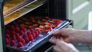 Funkce sušení ovoce, zeleniny a masa.