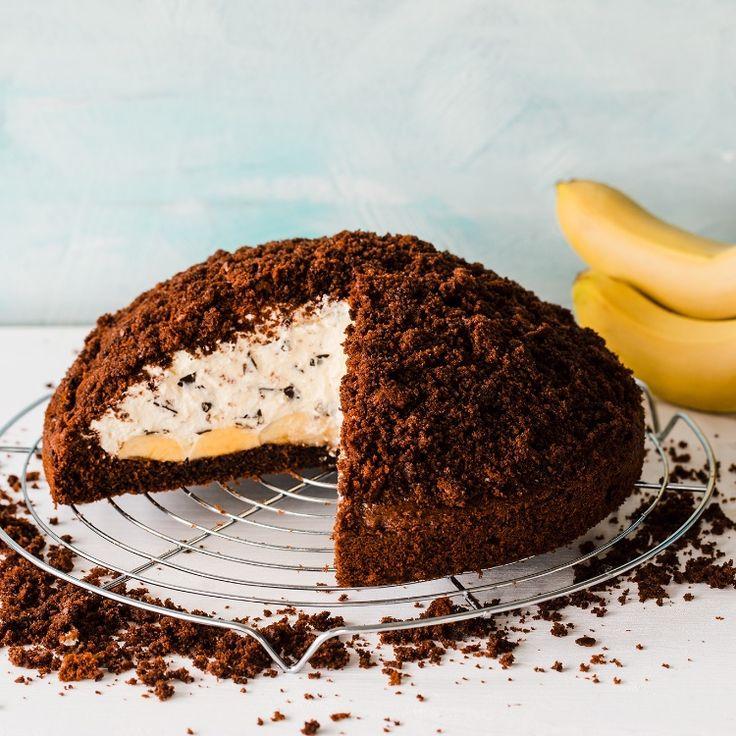 Tvarohovo-mascarpone krtinec s banánem