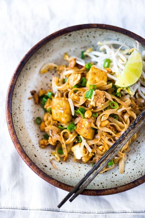 Thajské nudle na veganský způsob