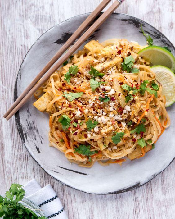 Asijské nudle s tofu