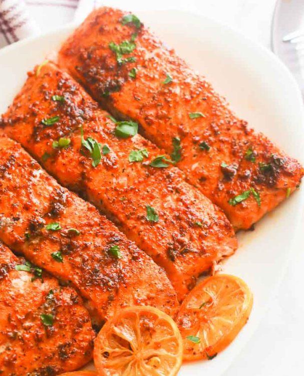Pikantní pečené filety z lososa