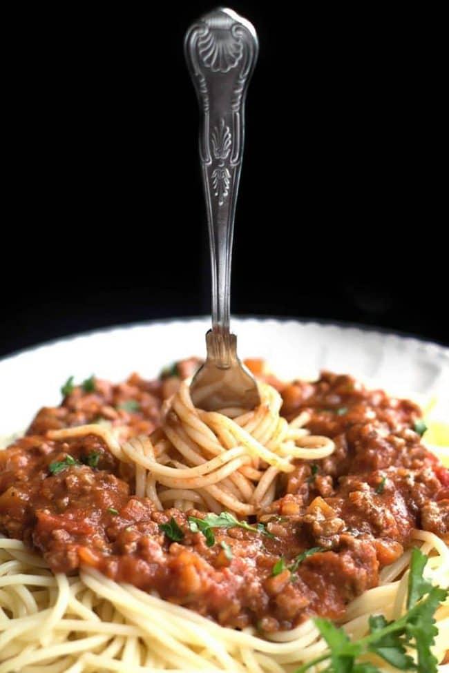 Jednoduchá a rychlá boloňská na špagety.