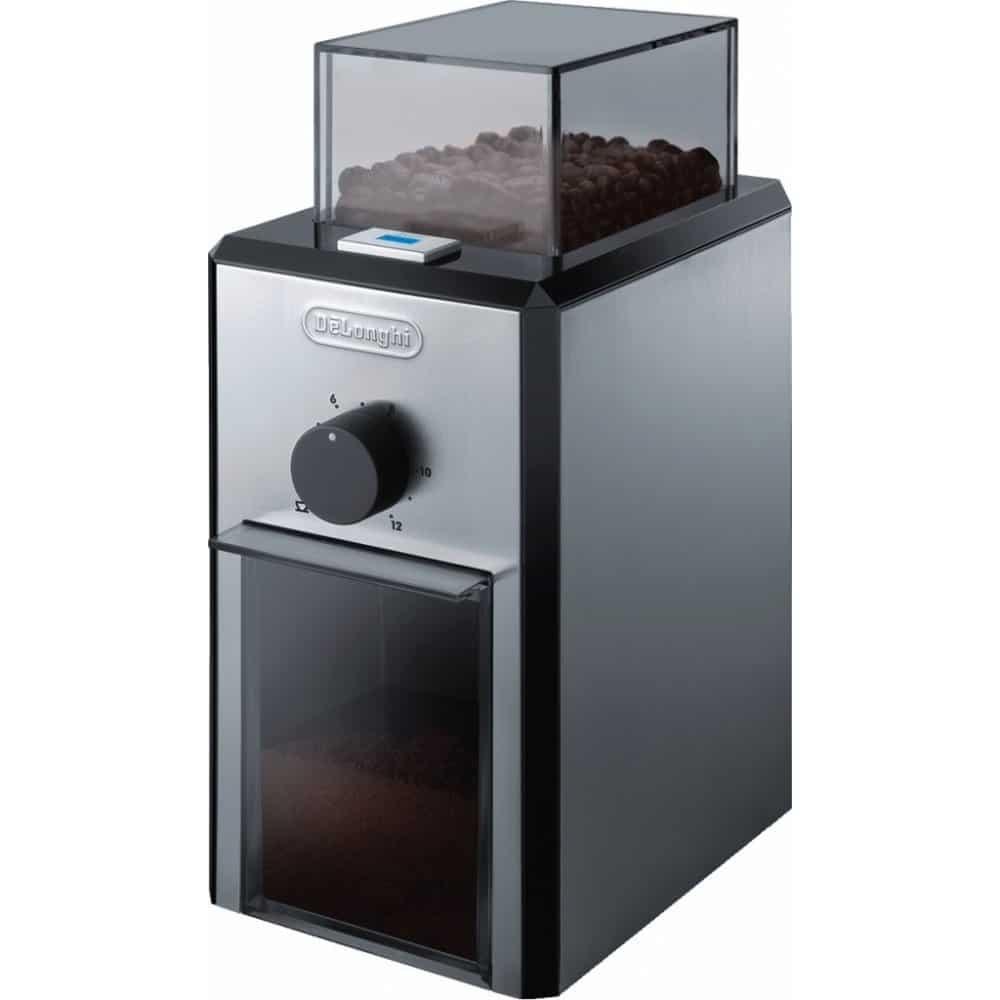 Elektrický kávový mlýnek DeLonghi.