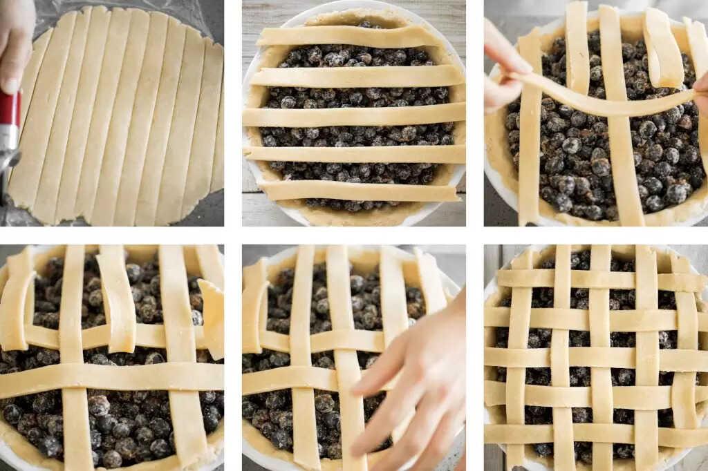 Ukázka přípravy borůvkového koláče.