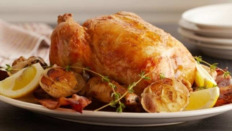 Pečené kuře na česneku s citronovou vůní.
