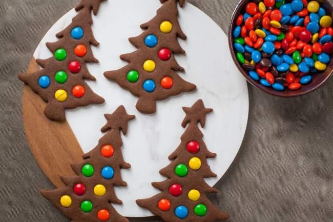 Lentilkové vánoční stromečky.